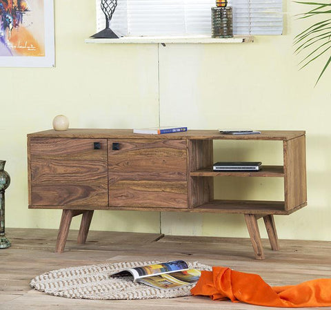 Solid Wood Buck Tv Unit