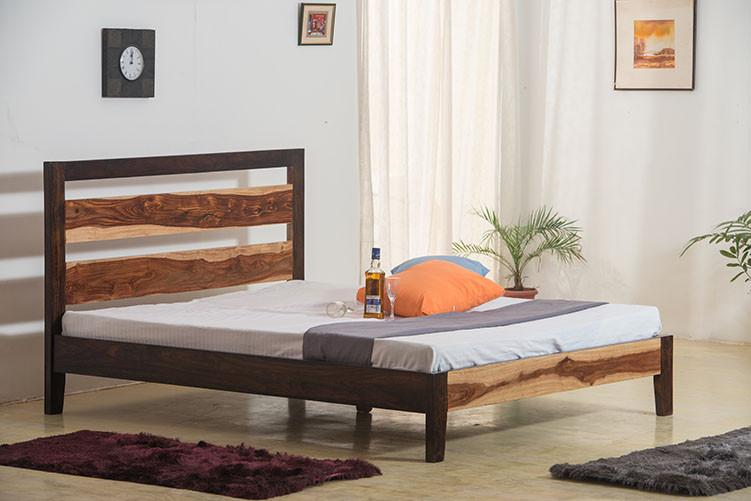 Solid Wood Eter Bed