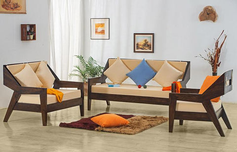 Perfect EXTRA 10% OFF Solid Wood ETER Sofa Set