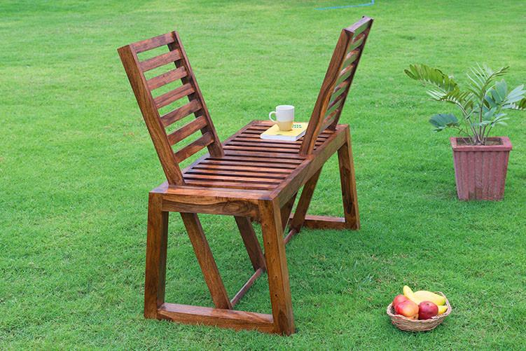 Solid Wood Garden Love Sofa Chair