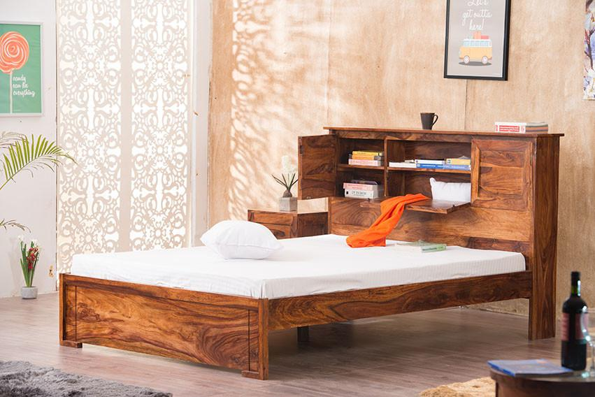 Buy Solid Wood Depot Storage Bedonline In India New Bed Designs