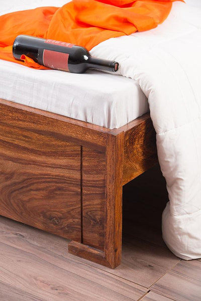 Solid Wood Depot Storage Bed