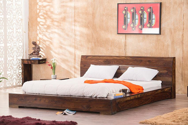 Solid Wood Voted Platform Bed