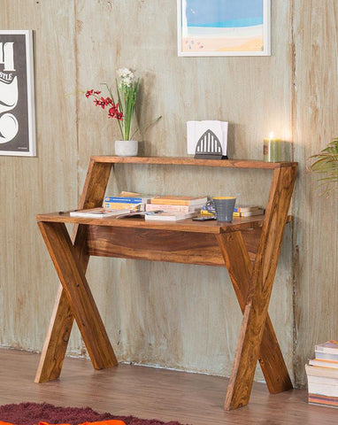 EXTRA 10% OFF Solid Wood Crossia Writing / Study Table
