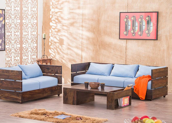 Solid Wood Voted Sofa Set
