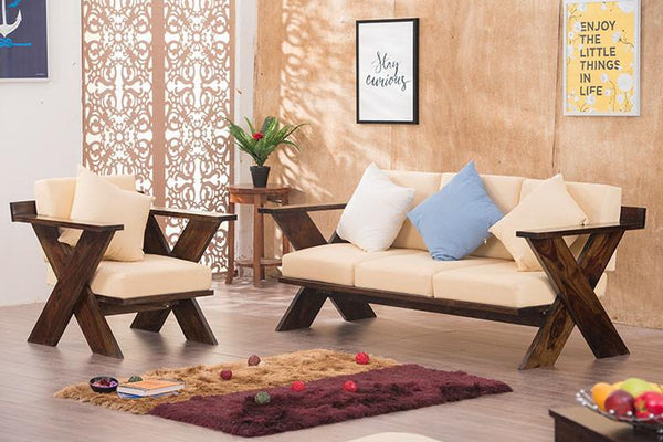 Solid Wood New Crossia Sofa Set