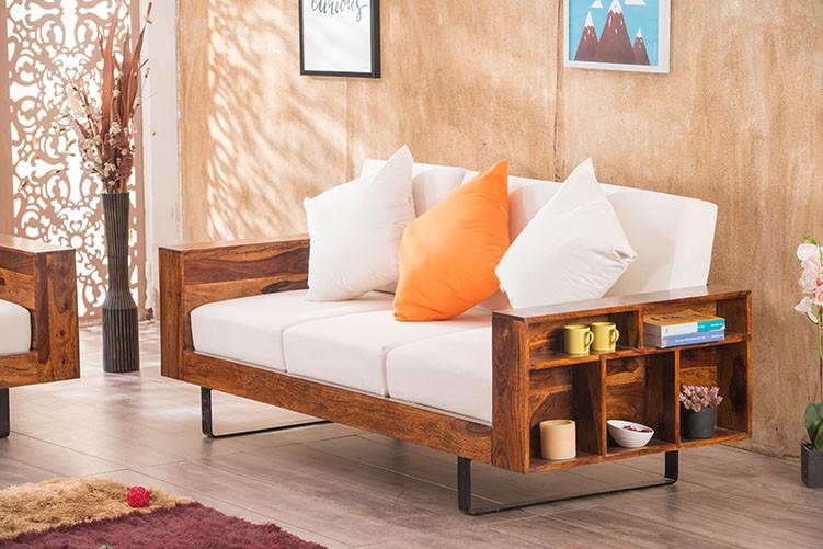 Solid Wood Cubox Sofa Set