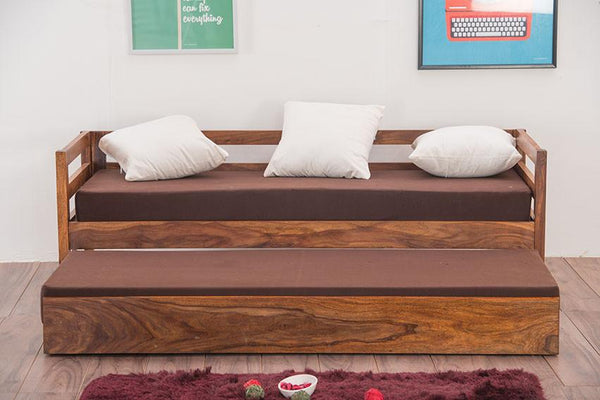 Solid Wood Capital Sofa cum Bed Trundle