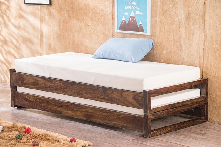Buy Solid Wood Durban Sofa Cum Bed Online In India