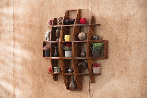 Solid Wood Concave Wall Stand