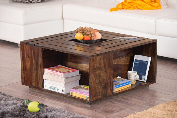 Solid Wood Crate Coffee Table
