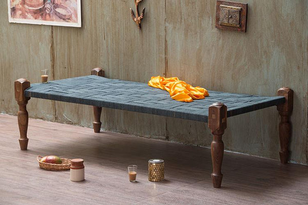 Solid Wood Rajasthani Charpai Bed
