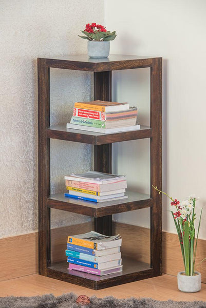 Solid Wood Corner Bookcase