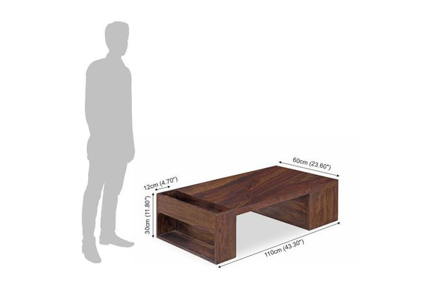 Solid Wood Voted Coffee Table with Storage