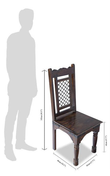 Solid Wood Jali Chair