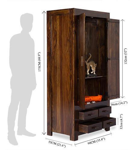 Solid Wood Romeo Wardrobe