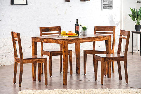 EXTRA 10% OFF Solid Wood Teffe Dining Set ( 4 Seater )