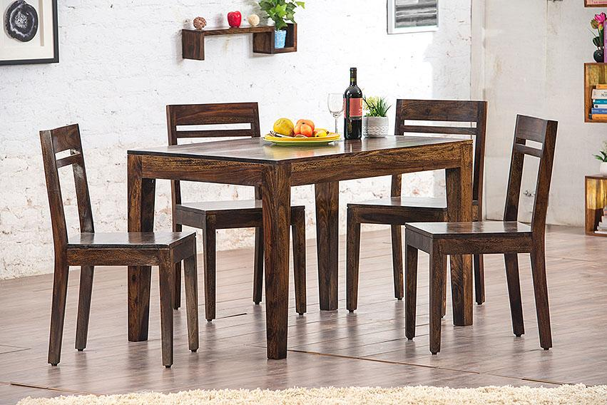 Solid Wood Teffe Dining Set ( 4 Seater )
