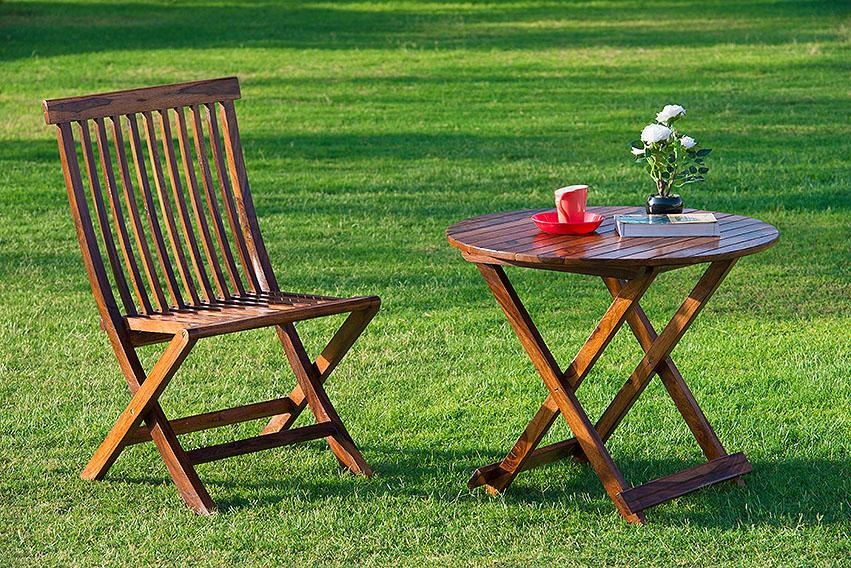 Solid Wood Classic GARDEN TABLE Set