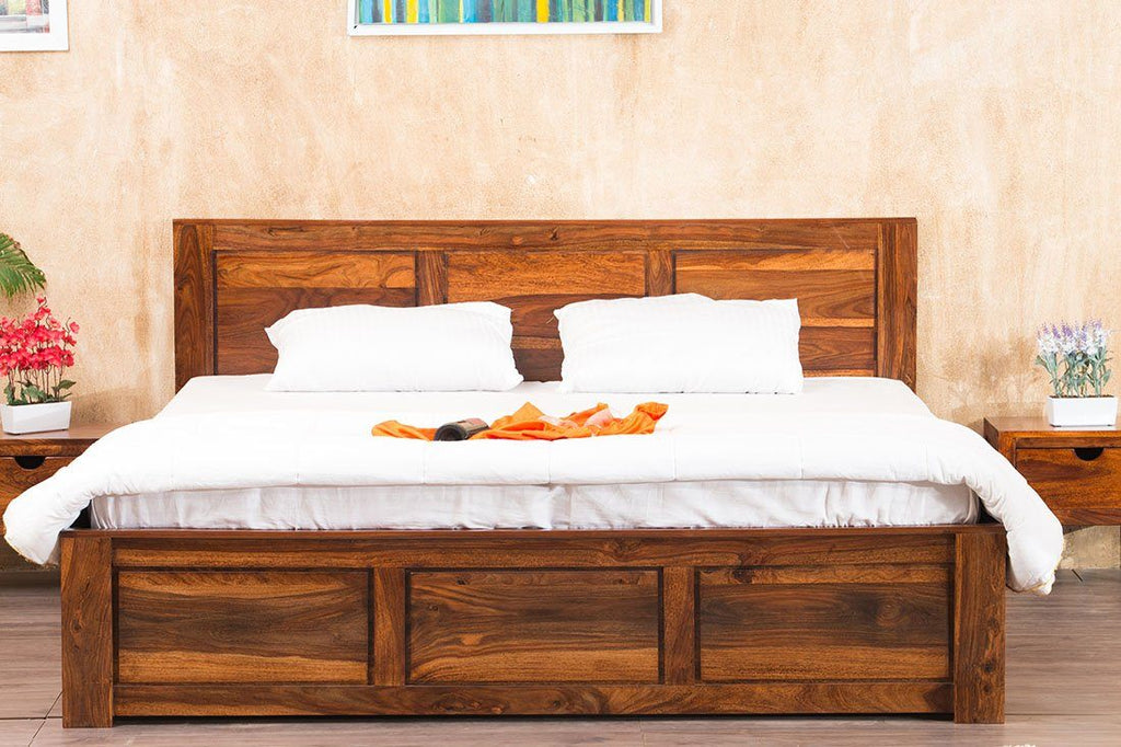 Solid Wood Essential Bed with Storage
