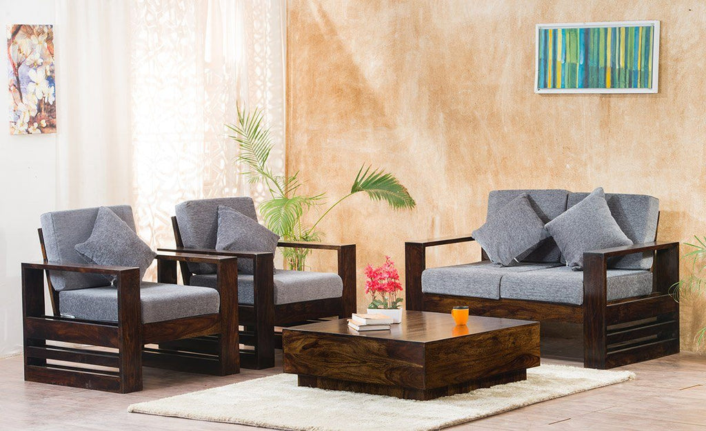 Solid Wood Bennett Sofa Set