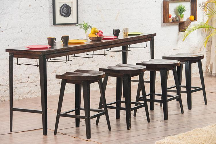 Solid Wood INDIANA Breakfast Dining Table Set 4 Seater