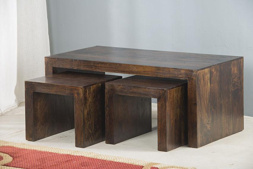 Small Cube Coffee Table.Solid Wood Cube Coffee Table Set Of 3 Pcs