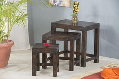 Solid Wood Jaipur Stool set of 3