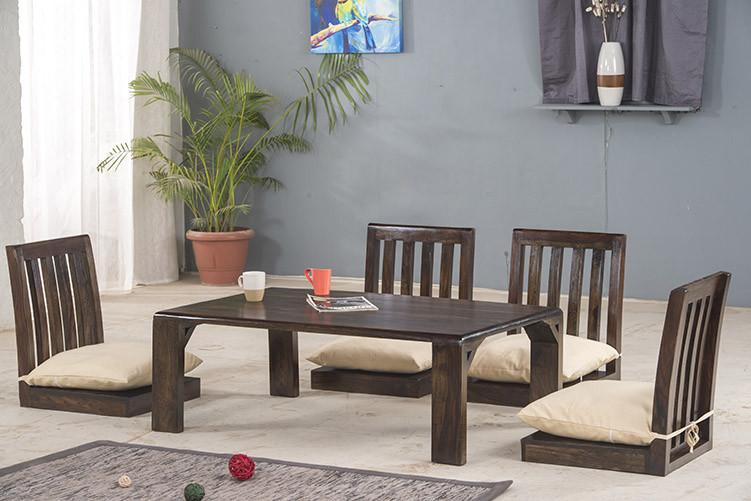 Japanese Low Dining Set - Solid Wood Furniture , Buy Dining Table ...