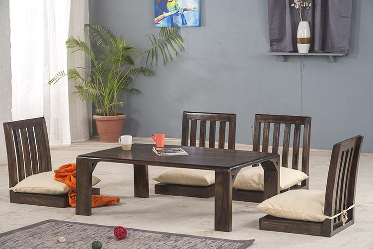 Buy Solid Wood Japanese Style Low Dining Table With