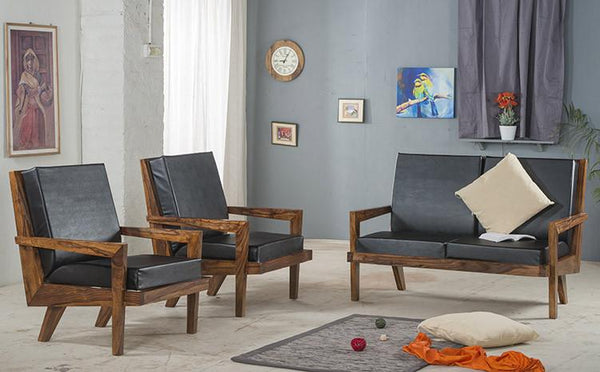 Solid Wood Charlie Sofa Set