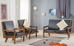 Solid Wood Charlie Sofa Set B