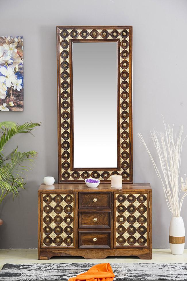 Buy Solid Wood Brass Dressing Table D Online New