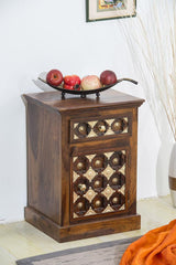 Solid Wood Brass Bedside Table D
