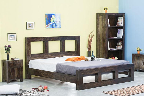 Solid Wood Cube Bed