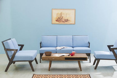 Solid Wood Buck Sofa Set