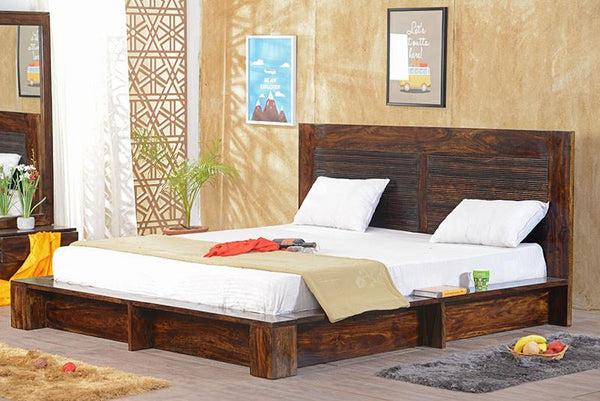Solid Wood Maharaja Platform Bed