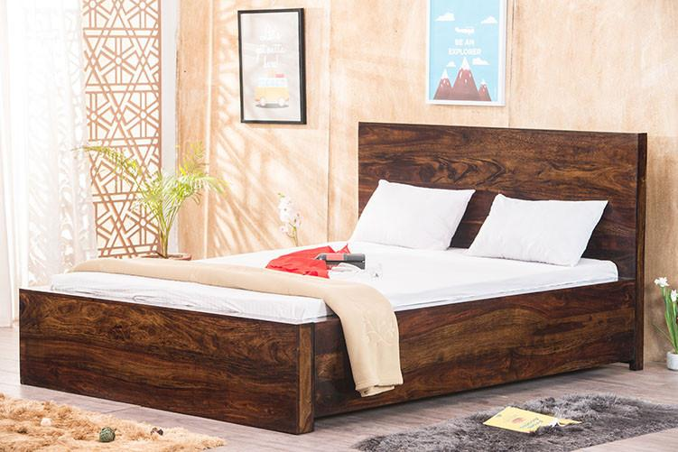 Buy Solid Wood Bolt Bed With Storage Online In India