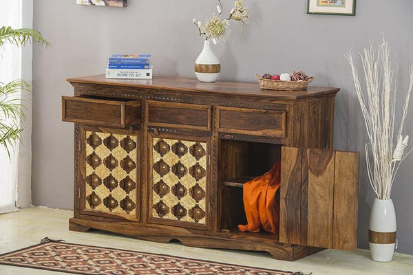 Solid Wood Brass Sideboard A