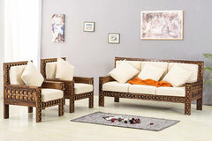 Solid Wood Brass Royal Sofa set