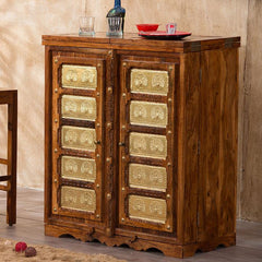 Solid Wood Brass MAJESTIC Bar