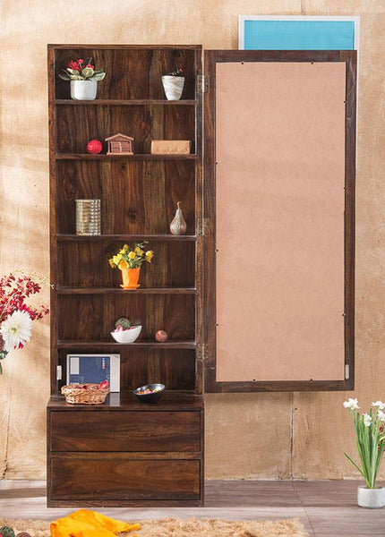 Solid Wood Cube Dressing Almirah