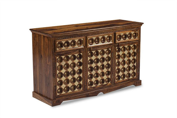 Solid Wood Brass Sideboard D