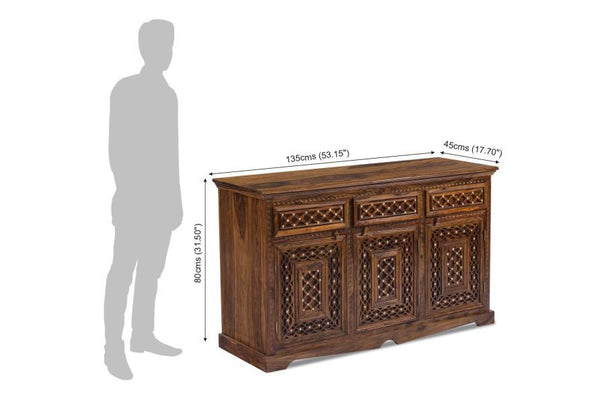 Solid Wood Brass Sideboard B