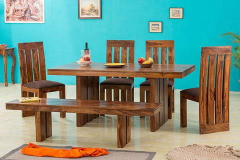 EXTRA 10% OFF Solid Wood New Capital Dining Set