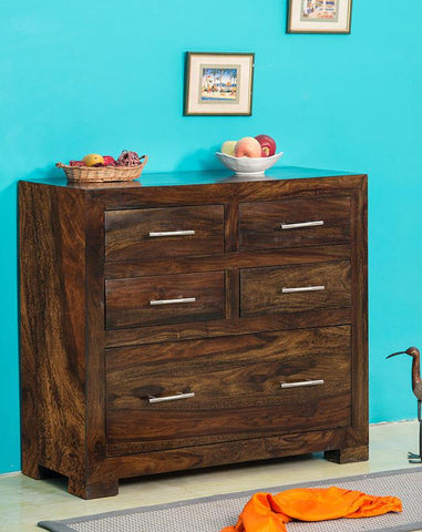 Solid Wood Cube Drawer Chest