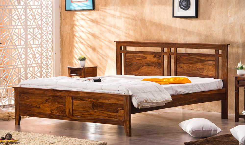 Solid Wood Teffe Bed