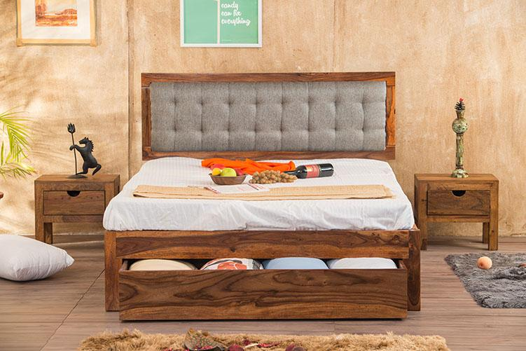 Solid Wood Estonia Bed Grey