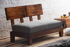 Solid Wood Curved Sofa Lounger