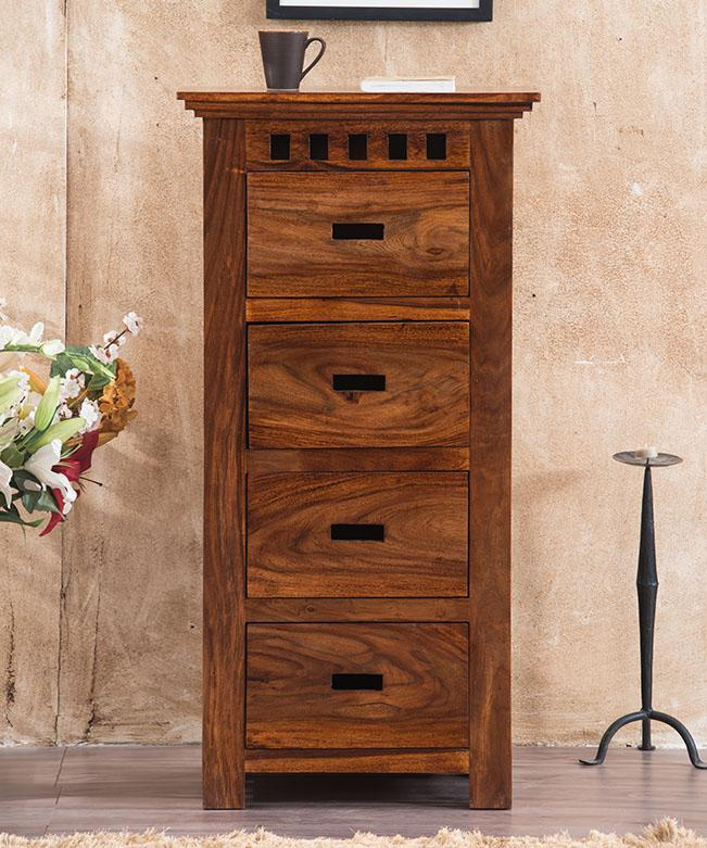 Solid Wood Kuber Tall Chest of Drawers